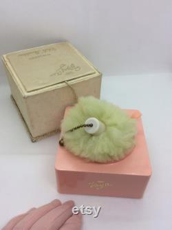 Vintage Evyan White Shoulders dusting powder with Lamkin Powder Puff