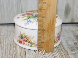 Vintage F Howard Flowered Powder Box, Ceramic Powder Box, Vintage Powder box, Gift idea, Prop, Daysgonebytreasures D