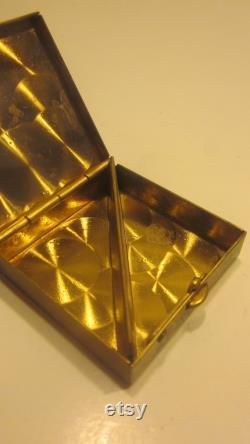 Vintage Golden Powder Box