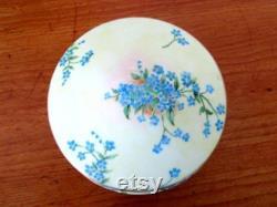 Vintage Handpainted Ceramic Powder Box Trinket Box Vanity Box