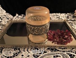 Vintage Jovan Mink and Pearls Powder Box
