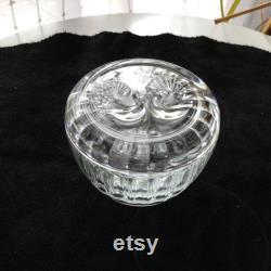 Vintage Luigi Bormioli Glass Powder Trinket Box Made in Italy