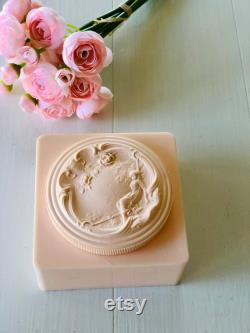 Vintage Pink Dusting Powder Box