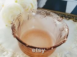 Vintage Pink Glass Candy Dish Powder box Trinket Dish, Pink Glass Lidded bowl, lided bowl, vintage vanity decor, vintage home decor