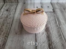 Vintage Pink Hobnail Vanity Jar by Lander Fifth Avenue New York Vintage- FREE SHIPPING