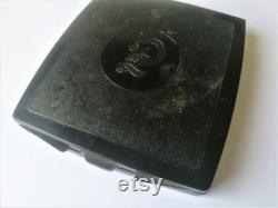 Vintage Powder Box Vintage perfume bottle Perfume flacon Glass perfume jar Boho Home Decor Soviet era