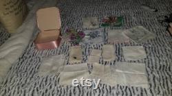 Vintage Satin Pink Box w 14 Handkerchiefs