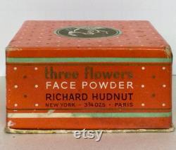 Vintage Square Richard Hudnet Three Flowers Powder Box