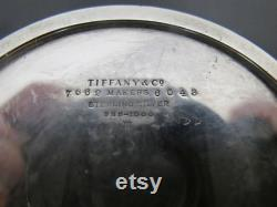 Vintage TIFFANY and Co Sterling Silver BABY Powder Jar with Original Puff
