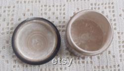 Vintage Tartanware Powder Box Widow Wadham and Uncle Toby