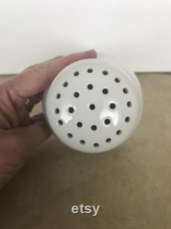 Vintage White Porcelain Sugar Shaker, Talc Shaker, Hat Pin Holder