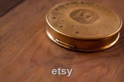 Vintage brass powder box.