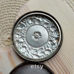 Vintage cupronickel Powder box. Old compact powder. Soviet vintage. Powder box. USSR. Women's accessory